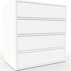 Kommode Weiss Design Lowboard Schubladen In Weiss Hochwertige