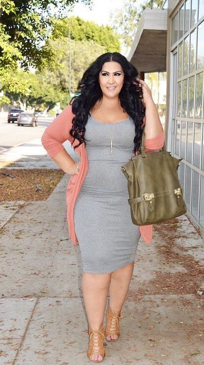 Curvy style inspiration: Layer a colorful cardigan over a ...