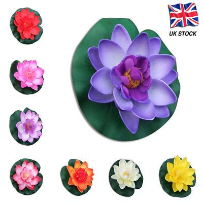 Water Lily Lotus Color Fish Lilypad Floor Decals 3d Wallpaper Wall Mural S 4 95 With Images Pond Decorations Lily Pads