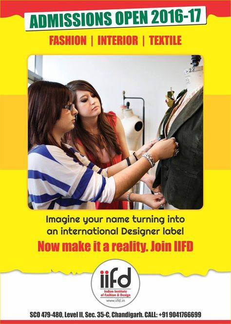 Imagine Your Name Turning Into An International Designer Label Now Make It A Reality For Fashion Designing Course Fashion Designing Institute Fashion Courses