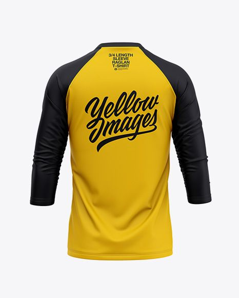 Mockup T Shirt Cdr : mockup, shirt, Men's, Raglan, Length, Sleeve, T-Shirt, Mockup, Apparel, Mockups, Yellow, Images, Object, Shirt, Mockup,, Clothing