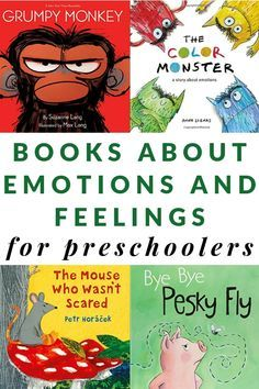 Books About Emotions for Preschoolers: a big printable book