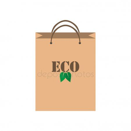 Eco Bag Icon Paper Bag Isolated On White Background Stock Vector Sponsored Icon Paper Eco Bag Ad Ilustracoes