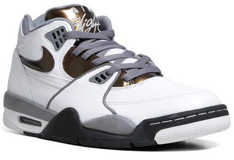 the latest 4a1df 24b8c Nike Air Flight 89 – White   Total Crimson – Cool Grey  sneakers  kicks