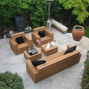 Mobilier De Jardin En Bois | Table de jardin bois, Meubles ...
