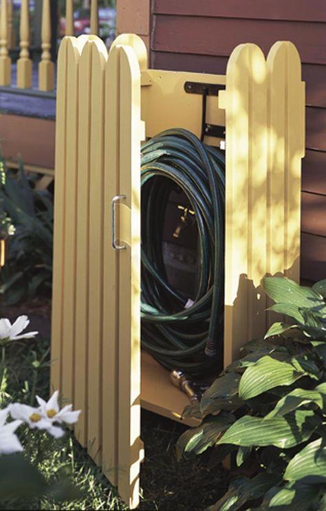 Garden hose hider Woodworking Plan from WOOD Magazine