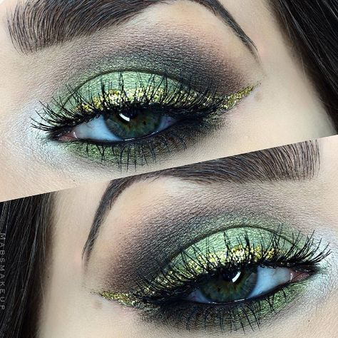 ce289d95e82 Green and Glitter 💚✨ @mabsmakeup wears her #Ardell wispies with this  gorgeous smokey eye look!