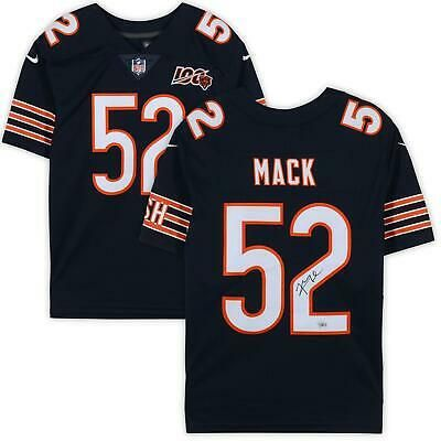 Details About Khalil Mack Chicago Bears Signed Navy Nfl 100 Nike Limited Jersey Fanatics In 2020 Nike Jersey Chicago Bears Nfl Jerseys