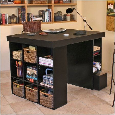 Venture Horizon Vhz Office Craft Table Walmart Com Craft Tables With Storage Craft Room Office Craft Table