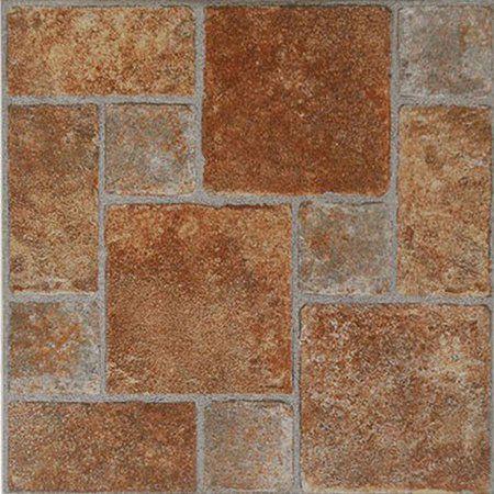 Home Dynamix Flooring Dynamix Vinyl Tile Kd0208 Brick 1 Box 20 Square Feet Walmart Com Vinyl Tile Flooring Vinyl Flooring