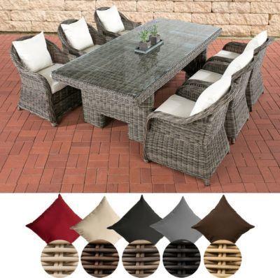 Poly Rattan Essgruppe Sitzgruppe Candela 6 X Garten Sessel Tisch 220 X 100 Cm 5 Mm Rund Geflecht Jetzt Bestellen Rattan Mobel Garten Gartenmobel Aussenmobel