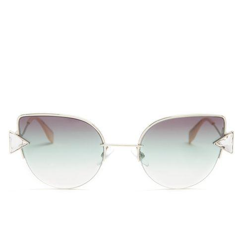 e91d7b19bb39 Fendi Rainbow cat-eye sunglasses ( 390) ❤ liked on Polyvore featuring  accessories