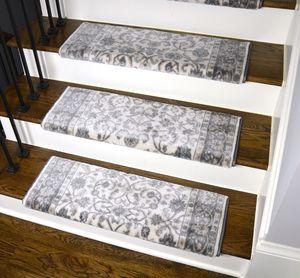 Dean Non Slip Tape Free Pet Friendly Stair Gripper Bullnose Carpet   Navy Blue Stair Treads   Wayfair   Non Slip   Longshore Tides   Rug Stair   Stair Runners