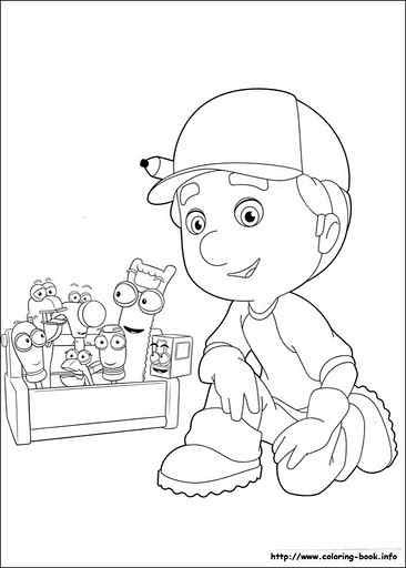 Handy Manny Coloring Pages Crafts And Worksheets For Preschool