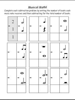 Musical Math Worksheets Music Math Elementary Music Worksheets Math Worksheets