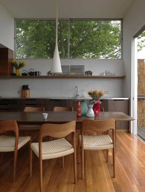 Home Decoration Interior . Home Decoration Interior Kitchen Dining, Kitchen Decor, Kitchen Units, Kitchen Chairs, Open Kitchen, Danish Modern, Danish Style, Kitchen Interior, Apartment Kitchen