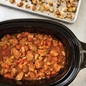 Pleasant Slow Cooker Rustic Pork And White Bean Casserole Americas Best Image Libraries Sapebelowcountryjoecom