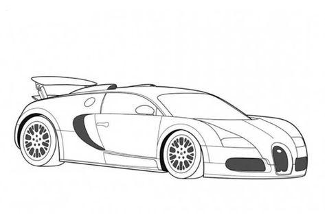 Bugatti veyron para colorear e imprimir02 | zeek