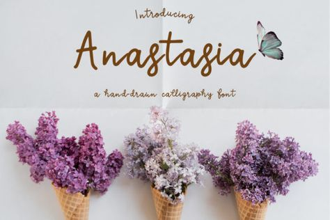 Anastasia (Font) by Just Bia · Creative Fabrica