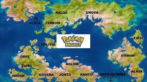 Image result for map of pokemon world | my fav | Map, World, Pokemon