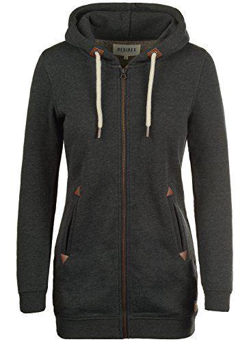 DESIRES Liki Straight Zip Kapuzenjacke, Größe:XL;Farbe:Dark