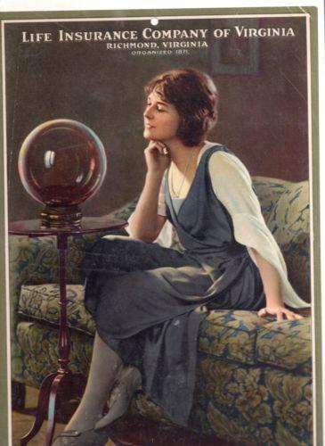 1923 Life Insurance Co Of Virginia Calendar Life Insurance For