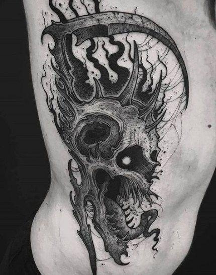 New Tattoo Designs New School Skulls 17 Ideas In 2020 Skull Tattoo Design Skull Tattoo Dark Art Tattoo