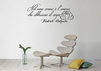Frasi Adesive Da Parete.Adesivi Murali Frase Nietzsche Decorazioni Da Parete Wall