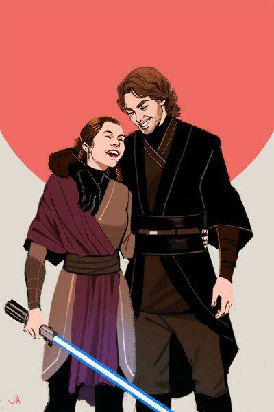 In a better world Anakin and leia by Ву Lazy-Afternooner