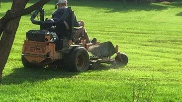 Scag Turf Tiger 61 Mowing One Of The Fields After A Couple Days Of Rain Riding Lawnmower Mowing Landscape