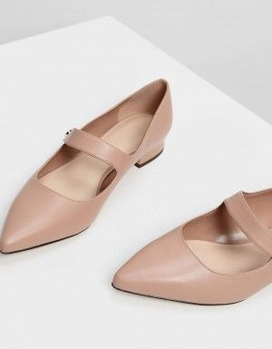 Nude nn Office Ladies Mary Jane Faux Leather Slip On Womens High Heels Size 10