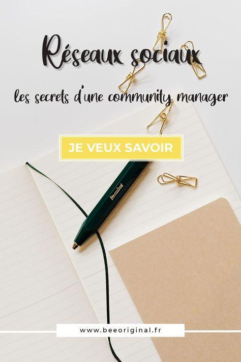 Réseaux sociaux secrets d'une community manager