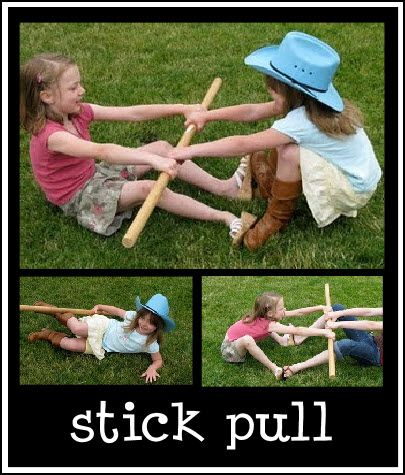 The object is to pull your opponent up onto their feet. You put your feet against theirs and pull.