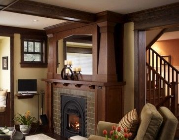 Arts And Crafts Fireplace With Jan Schmuckal Painting. | Bungalow Fireplaces  | Pinterest | Paintings, Craft And Craftsman