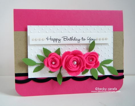 MFT Rolled roses card