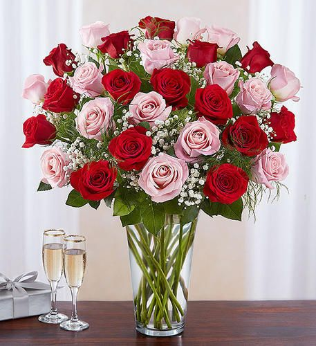 6 Stems Red Love S Embrace Roses Flower Delivery Valentines Flowers Red Rose Arrangements
