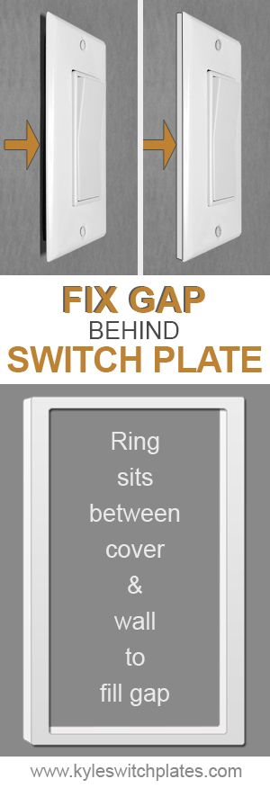 Depth Ring Wall Plate Extenders 1 Gang Plates On Wall Wall Plate Cover Light Switch Plate Cover