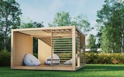 Nowoczesna Altana Ogrodowa Altana Drewniana Altany 6784810003 Oficjalne Archiwum Allegro Modern Gazebo Backyard Pavilion Outdoor Rooms
