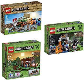 Bundle Lego Minecraft 21116 Crafting Box And Lego Minecraft 21115 The First Night And Lego Minecraft The Cave 21113 Playset Craft Box Lego Minecraft Minecraft