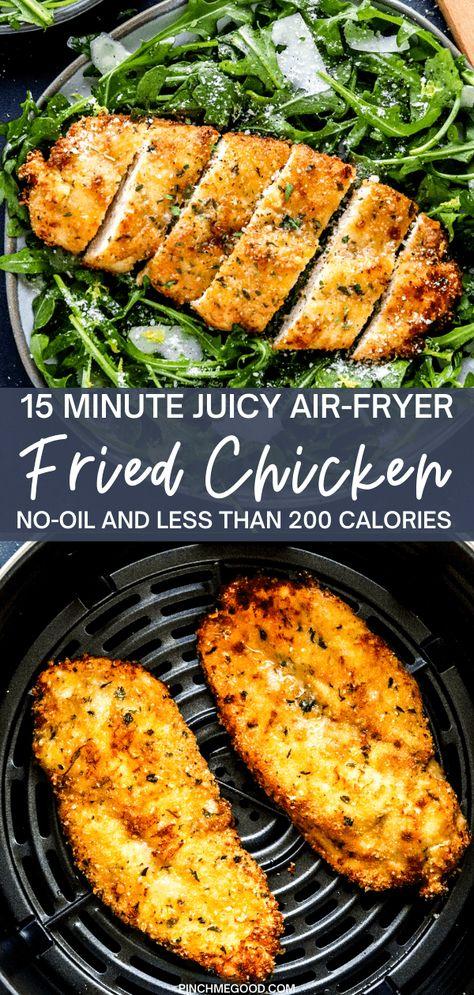 15 Minute Crispy Air-Fryer Breaded Chicken Breast - Pinch Me Good