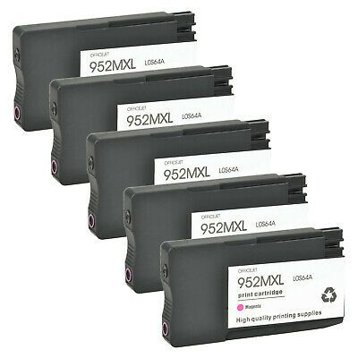 Ad 5pk 952xl Magenta Ink Cartridges For Hp Officejet Pro 8710 8715 8716 8720 8728 Hp Officejet Pro Hp Officejet Ink Cartridge