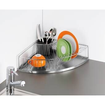 Ultra Plastic Countertop Dish Rack Space Saving Kitchen Dish Racks Kitchen Sink Accessories