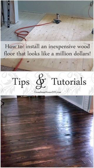 How To Install An Inexpensive Wood Floor Inexpensive Flooring Cheap Flooring Flooring
