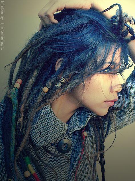 Blue dreads, pretty cool x