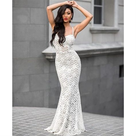 2b487b0f5d Off White Lace Nude Illusion Padded Gown
