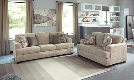 Barrish 48501 38 35 2 Piece Living Room Set With Sofa And Loveseat