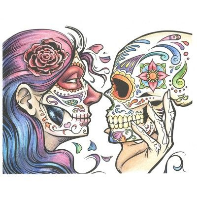 Crayola Art With Edge Sugar Skulls Coloring Book Skull Coloring Pages Sugar Skull Painting Crayola Art