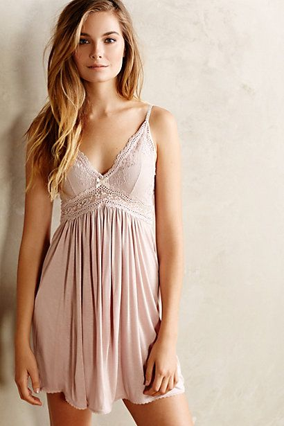 I think I sleep better when I wear a pretty nightgown or pajamas. Eberjey Colette Chemise - anthropologie.com