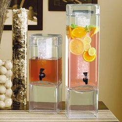 Square Beverage Dispenser With Cooling Ice Core Large Drink