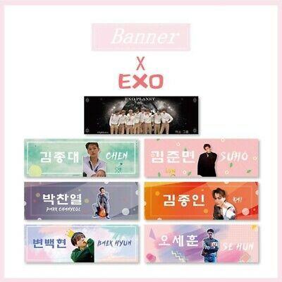 Kpop Exo Members Fabric Banner Hang Up Poster Concert Airport Support Fan Gift Fabric Banner Kpop Diy Banner